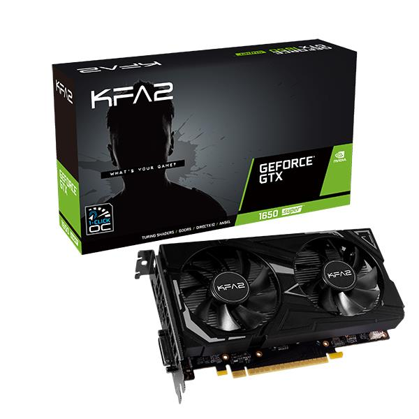 Видеокарта PCIE16 GTX1650 SUPER 4GB 1650SUP EX 1-CLICK OC 4GB KFA2