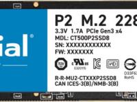 SSD жесткий диск M.2 2280 500GB P2 CT500P2SSD8 CRUCIAL